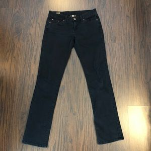 Lucky Brand Denim Jeans Black Lola Straight Size 6